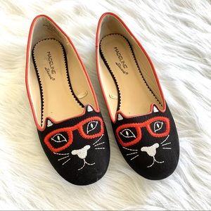 Madeline Stuart Black Cat Bookworm Ballet Flats
